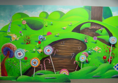 Mural - Chocolate River - 8' x 15' (#2837) - Props