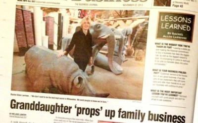 Milwaukee Business Journal: Granddaughter 'props' up family business