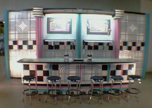 1034 Fifties Soda Shop Counter