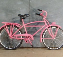 1043 Fifties Pink Metal Bicycle