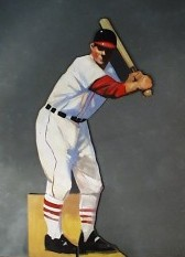1054 Baseball Batter Cutout