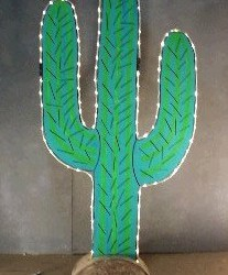 1075 Cactus With Rope Lights