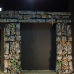 1081 Arch Stone Carved