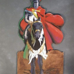 1087 Knight On Horse Cutout