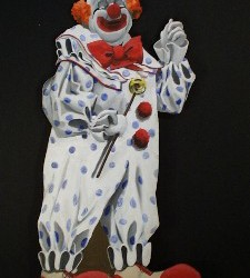 1097 Clown With Umbrella Cutout