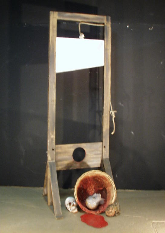 guillotine with head in basket 1160 props unlimited. Black Bedroom Furniture Sets. Home Design Ideas