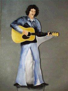 Hippie Guy Playing Guitar - Cutout (#1881)