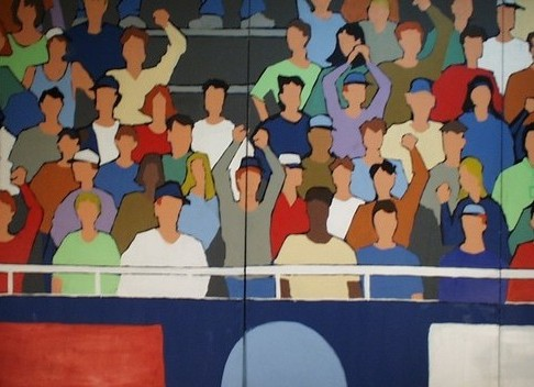 Mural stadium crowd scene 8 39 x 20 39 2079 props for Audience wall mural