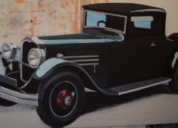 3120 1920s black Stutz car