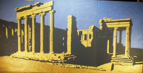 Mural ancient ruins 1226 props unlimited events llc for Ancient greek mural