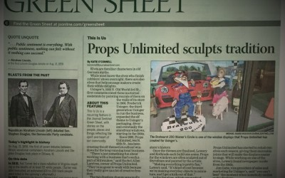 Props Unlimited & Usinger's Elves in Milwaukee Journal Sentinel Green Sheet
