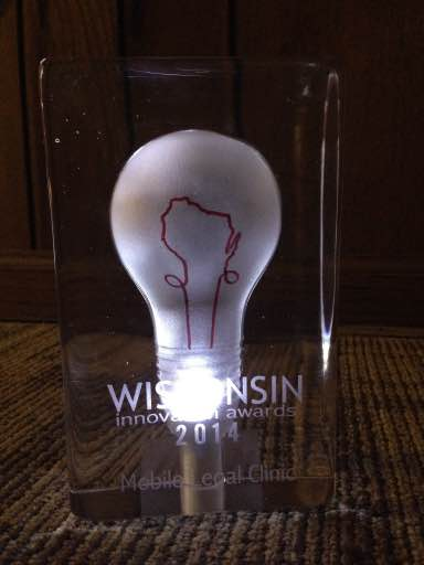 Wisconsin Innovation Award illuminated