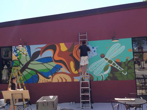 finishing custom mural