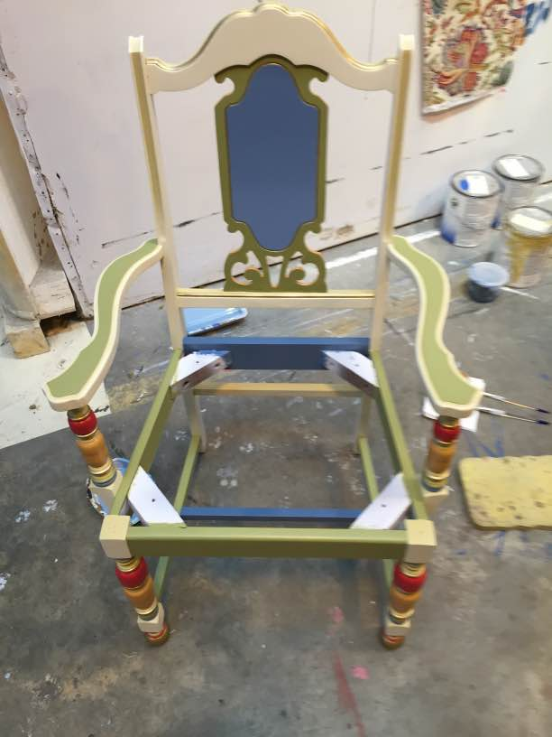 custom painted chair frame