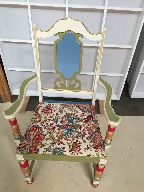 custom design gold chair
