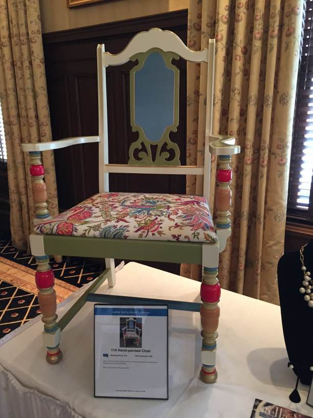 custom design chair at event