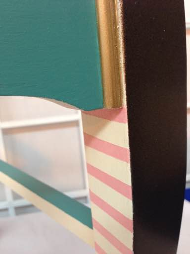 custom chair painting detail
